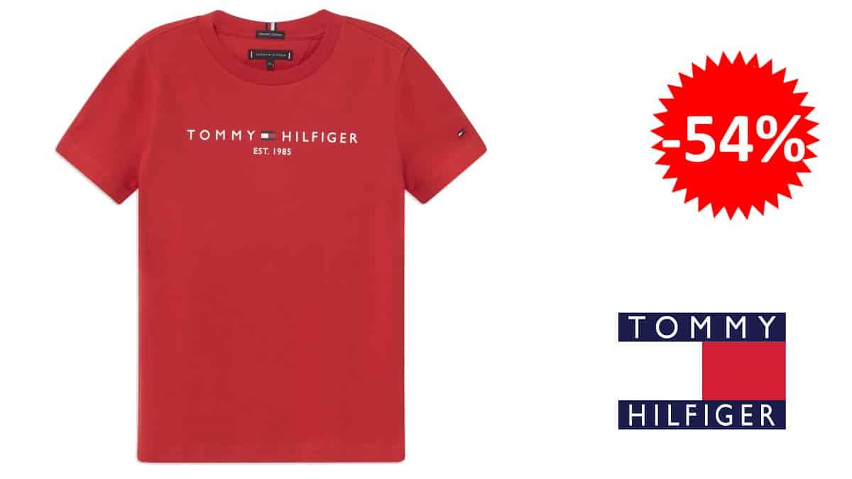 Camiseta para niño Tommy Hilfiger Essential barata, camisetas de marca baratas, ofertas en ropa para niños chollo