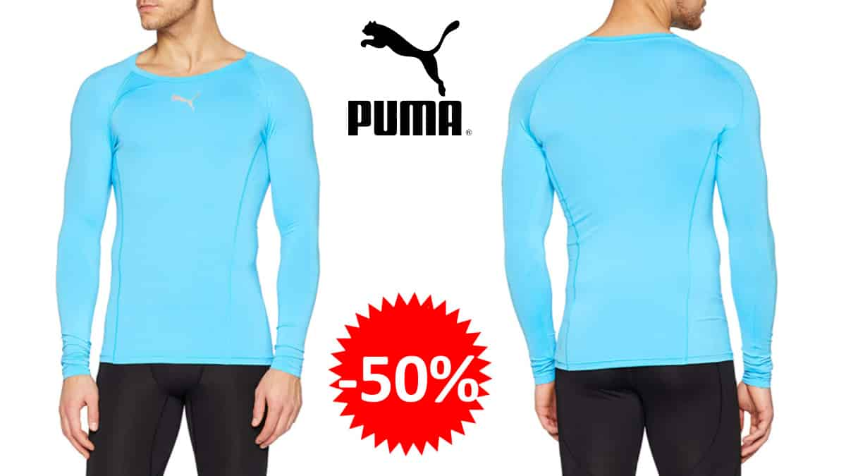 Camiseta técnica técnica Puma Liga Baselayer barata, camisetas deportivas baratas, ofertas en ropa, chollo