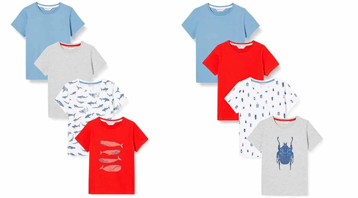 Camisetas Red Wagon para niño baratas, camisetas de marcca baratas, ofertas en ropa para niño, chollo