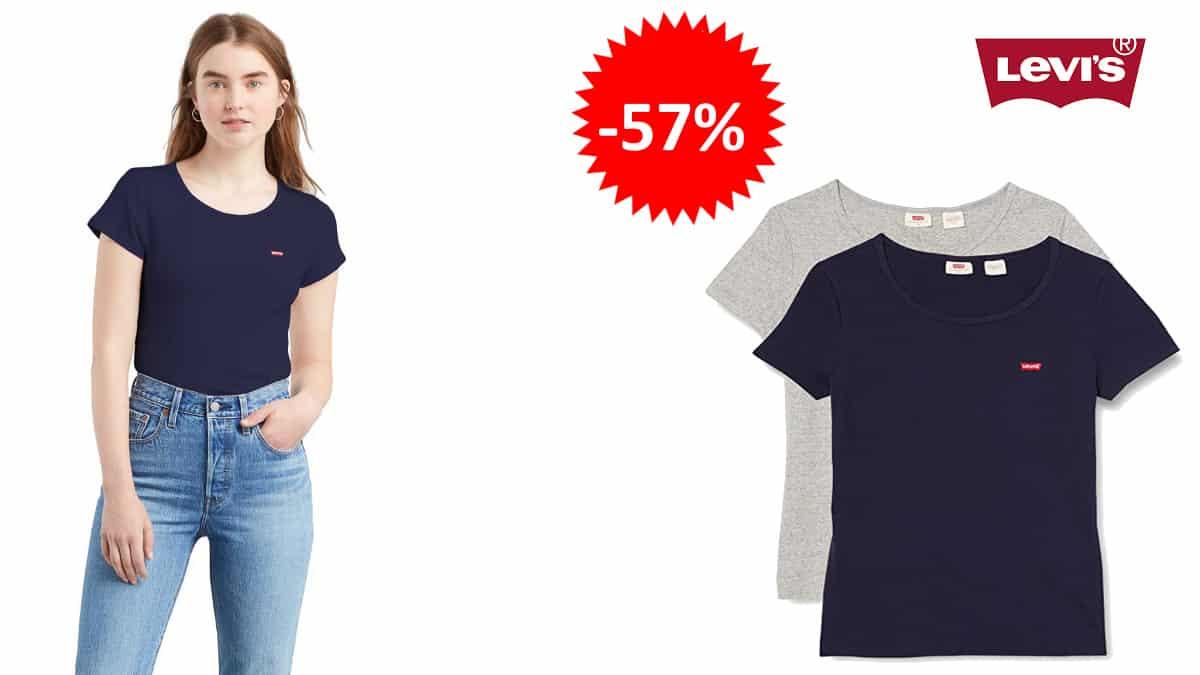 Camisetas básicas Levi's 2 Pack baratas, camisetas de marca baratas, ofertas en ropa, chollo