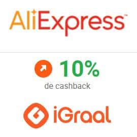 ¡Sólo hoy! Súper Cashback de AliExpress en iGraal. 6 chollos para aprovecharlo.