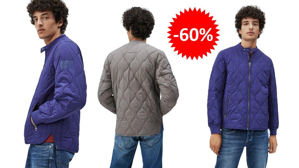 Cazadora acolchada Pepe Jeans Drayton barata, ropa de marca barata, ofertas en cazadoras chollo