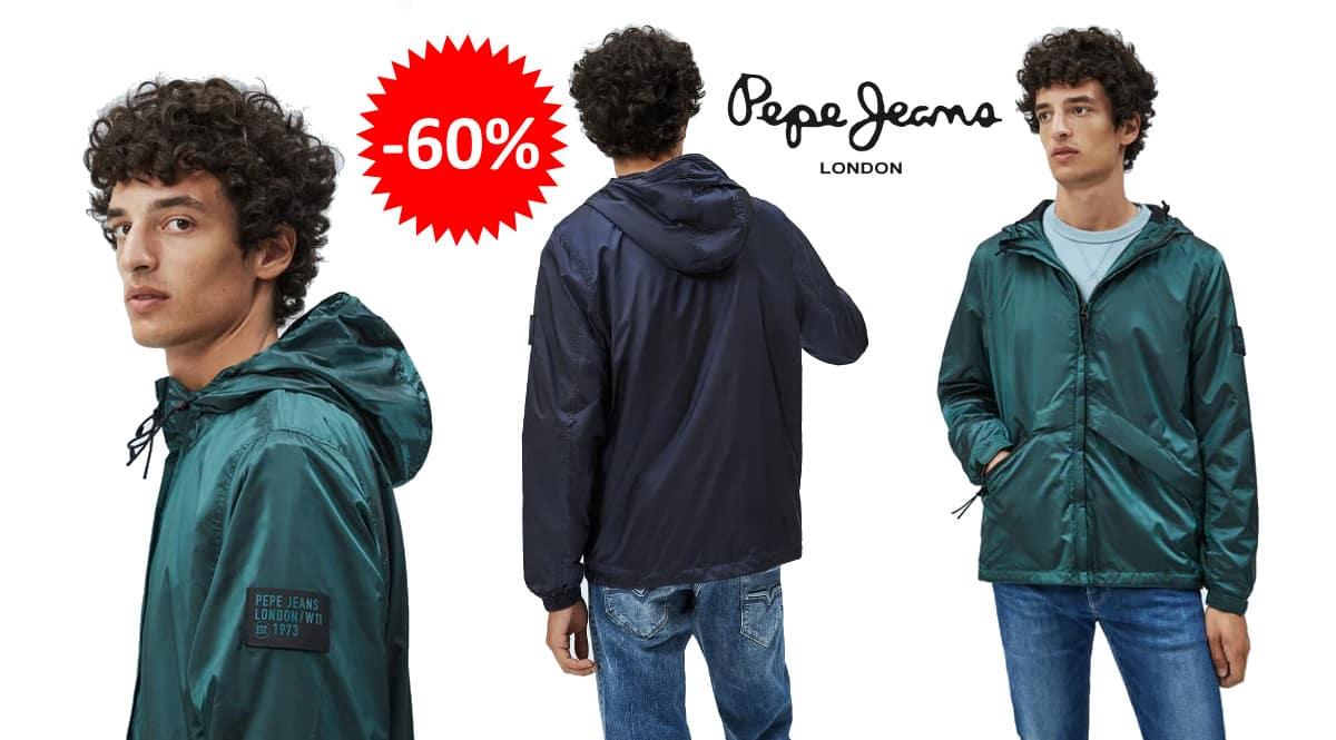 Chaqueta cortavientos Pepe Jeans Alton barata, ropa de marca barata, ofertas en chaquetas chollo