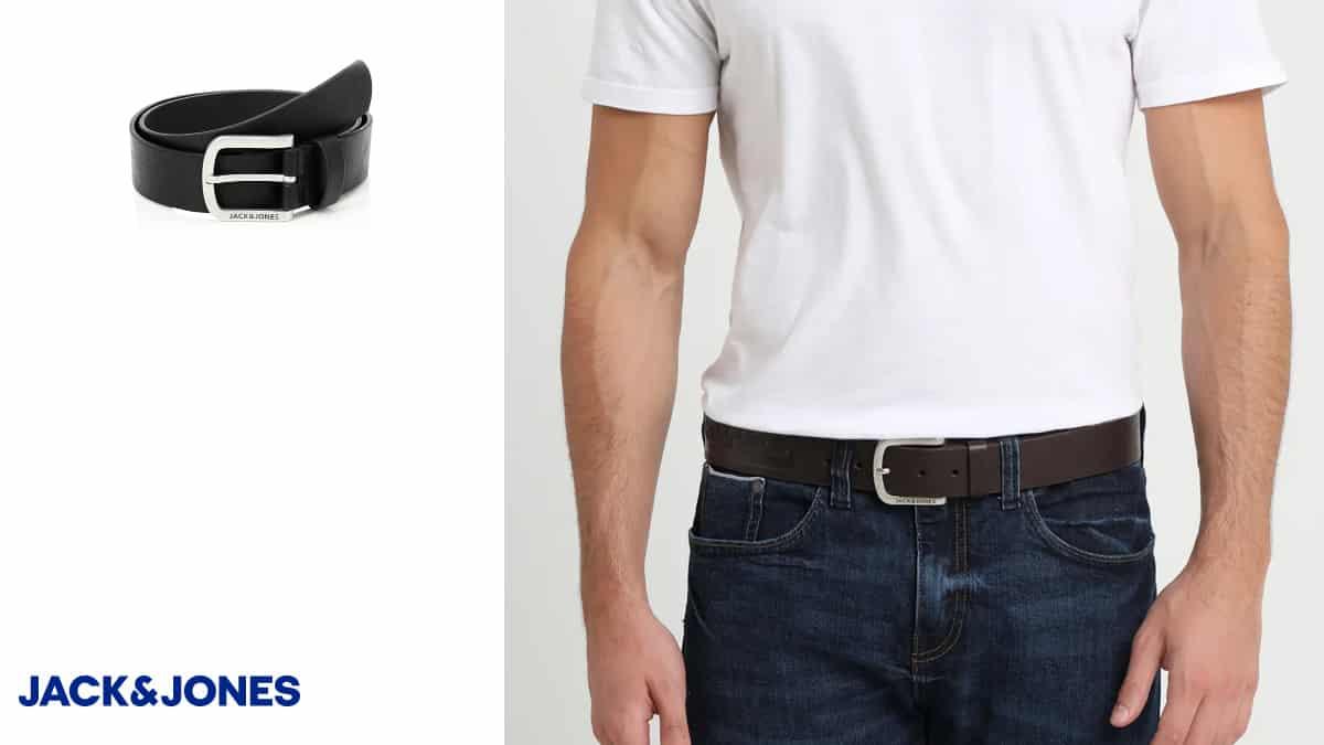 Cinturón Jack & Jones Jacharry barato, cinturones de marca baratos ofertas en ropa, chollo