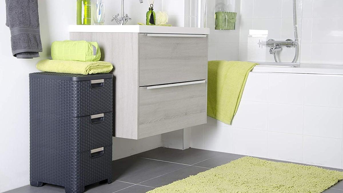 Cómoda de cajones Curver Style barata, muebles de marca baratos, ofertas para casa, chollo