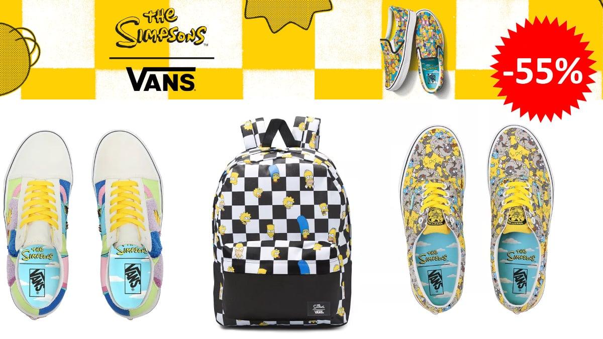 Colección The Simpsons x Vans barata, ropa de marca barata, ofertas en calzado chollo