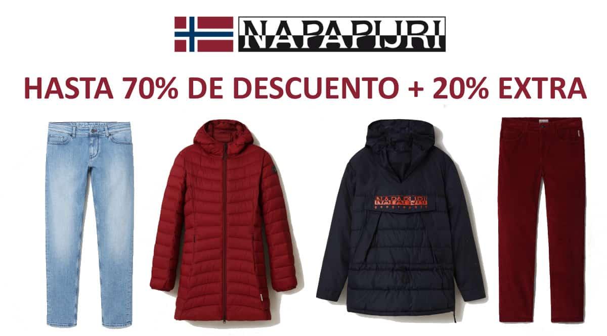 Descuento EXTRA Napapijri, ropa de marca barata, ofertas en ropa de marca chollo