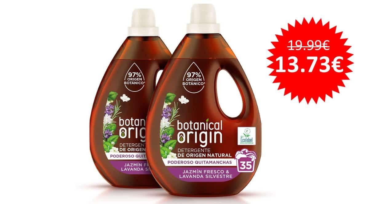 ¡Precio mínimo histórico! Detergente ecológico para lavadora Botanical Origin 70 lavados sólo 13.73 euros.