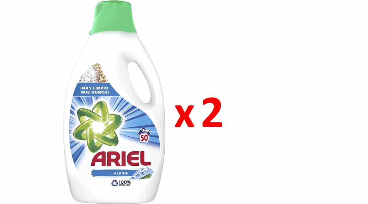 Detergente líquido Ariel Alpes barato, detergente para la ropa barato, ofertas supermercado, chollo