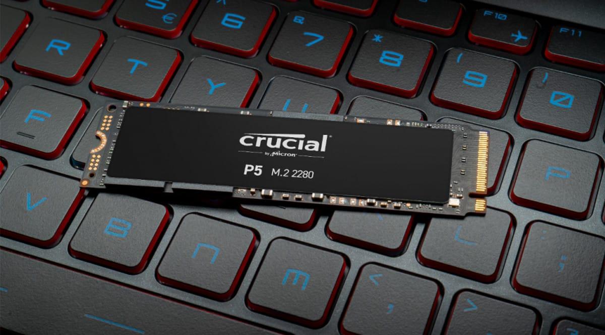 Disco SSD PCIe Crucial P5 de 1TB barato. Ofertas en discos SSD, discos SSD baratos, chollo