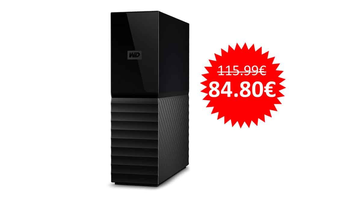 ¡Precio mínimo histórico! Disco duro externo WD My Book de 4TB sólo 84 euros.