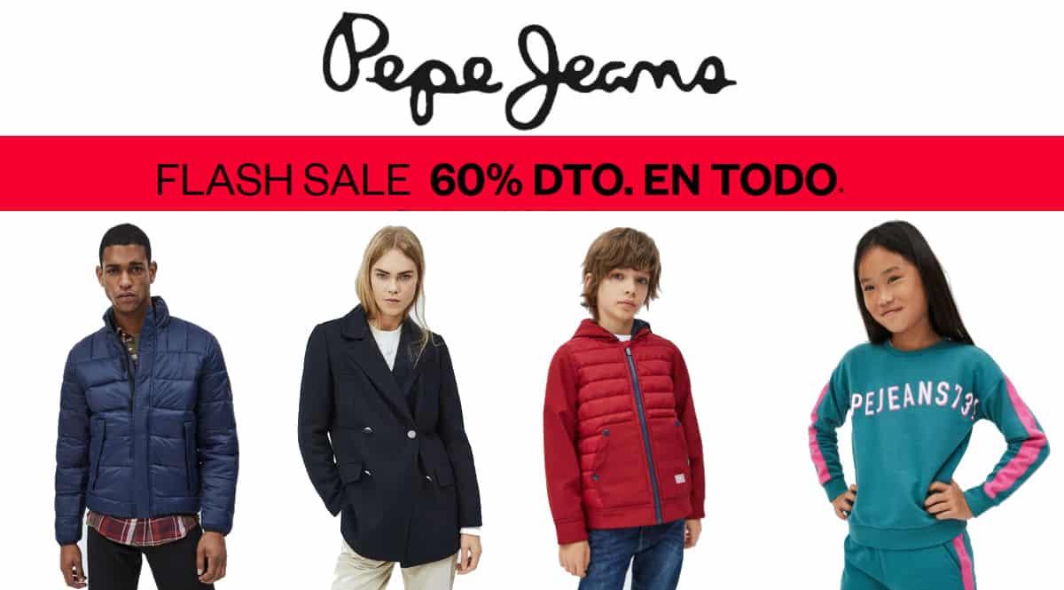 Flash Sale Pepe Jeans, ropa de marca barata, ofertas en calzado chollo