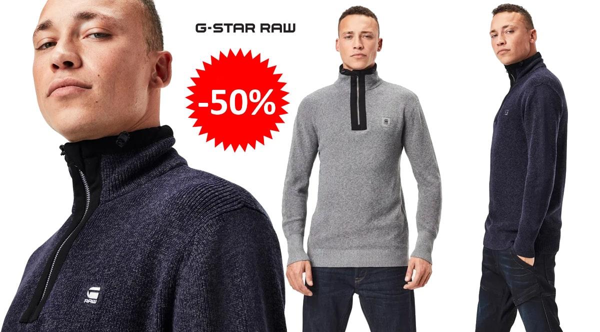 Jersey G-Star Raw Utility Constructed barato, ropa de marca barata, ofertas en jerseis chollo