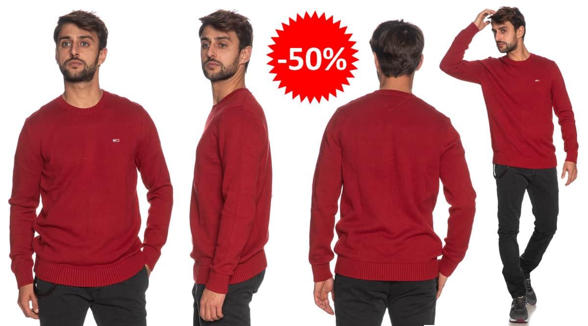 Jersey Tommy Hilfiger Essential barato, ropa de marca barata, ofertas en jerseis chollo