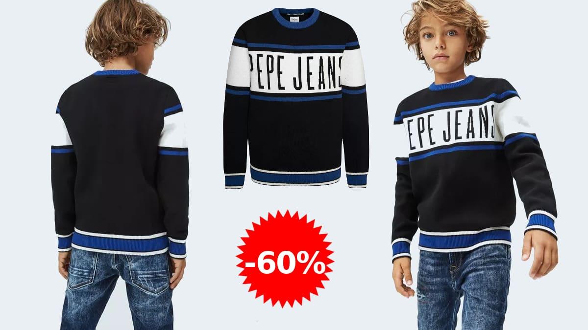 Jersey para niño Pepe jeans Jack barato, jerséis de marca baratos, ofertas en ropa para niño, chollo