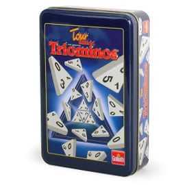 ¡Precio mínimo histórico! Juego Triominos en caja metálica sólo 9.95 euros.