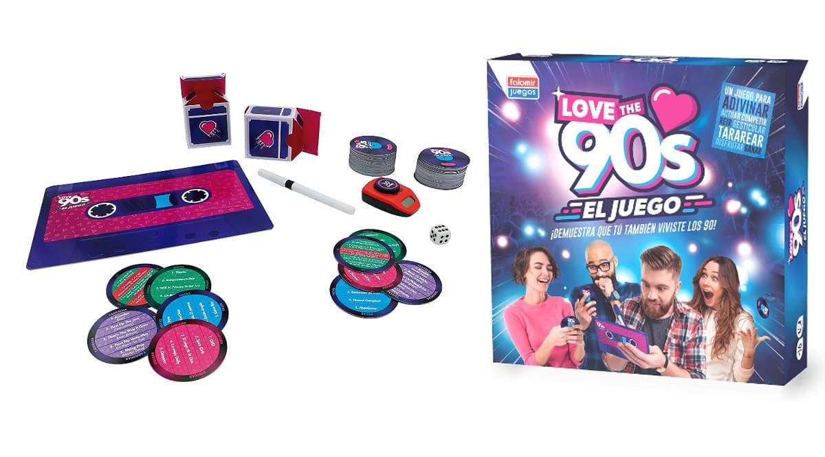 Juego de mesa Love the 90's barato, juegos de mesa baratos, ofertas en juguetes chollo