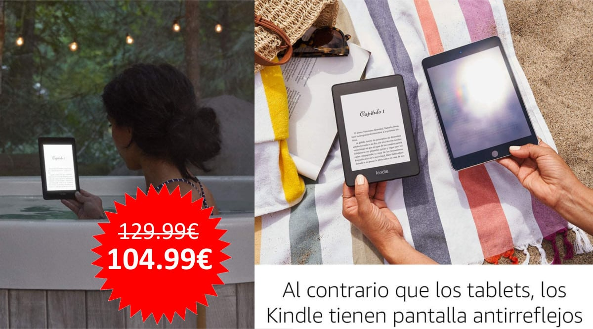 ¡¡Chollo!! Kindle Paperwhite sólo 104.99 euros.