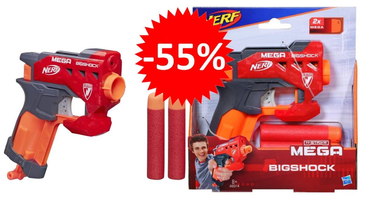 Lanzadardos Nerf N-Strike Mega Bigshock barato. Ofertas en juguetes, juguetes baratos, chollo