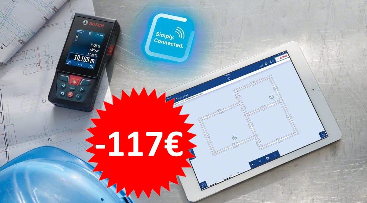 ¡¡Chollo!! Medidor láser Bosch GLM 120 C sólo 209 euros. Ahórrate 117 euros.