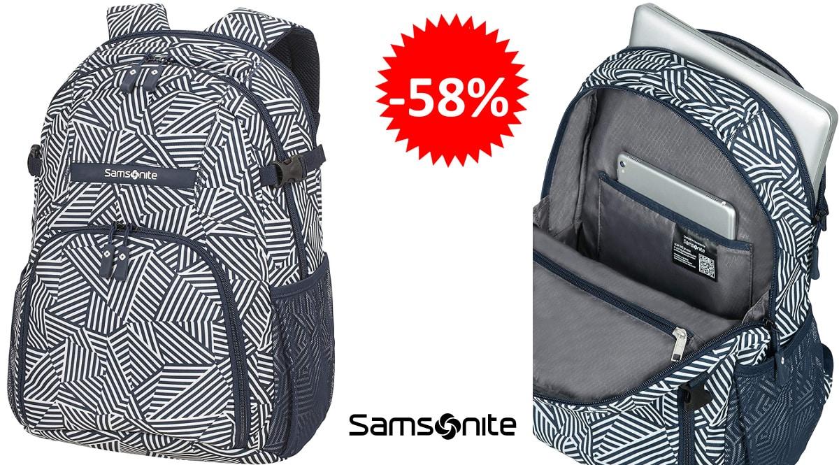 Mochila para portátil Samsonite REwind barata, mochilas de marca baratas, ofertas equipaje, chollo