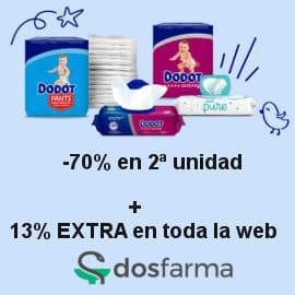 Ofertas en Dodot + descuento en Dosfarma, pañales de marca baratos, ofertas farmacia