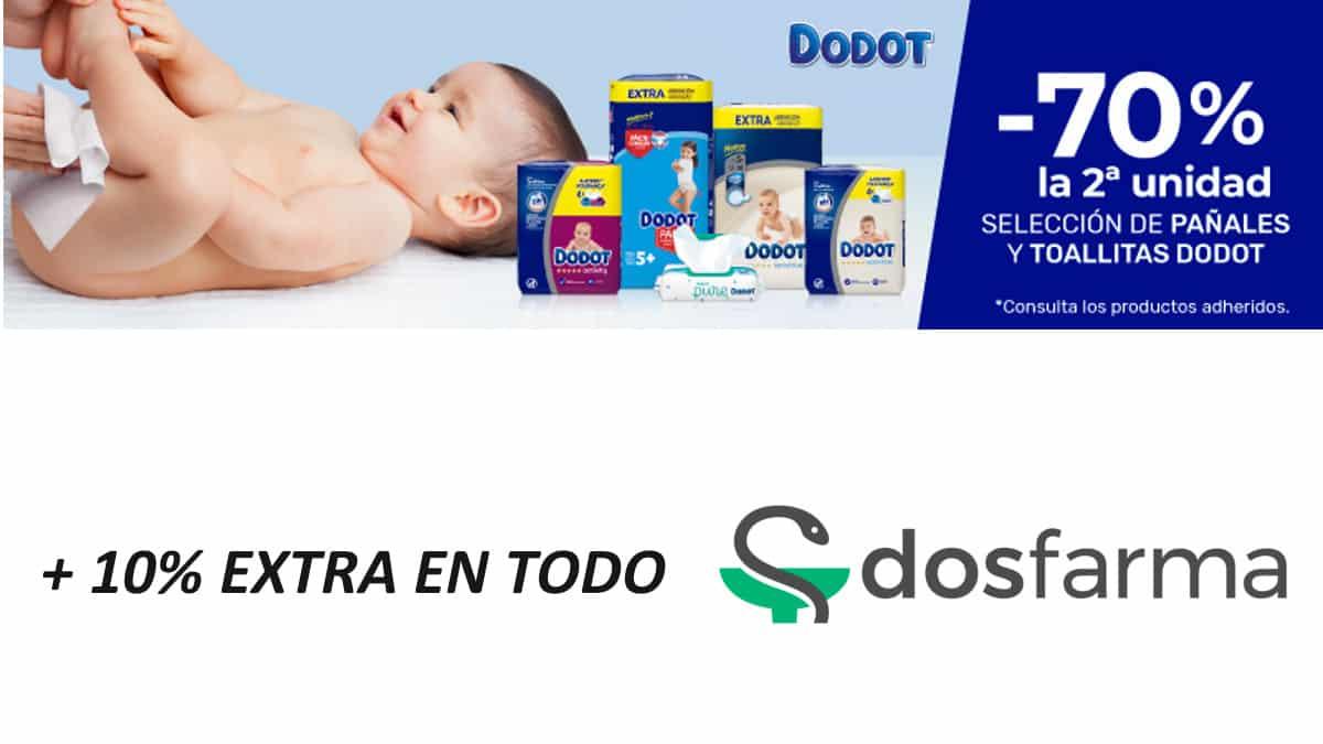 Ofertas en pañales y toallitas Dodot, descuento-en-Dosfarma-panales-de-marca-baratos-ofertas-farmaciachollo