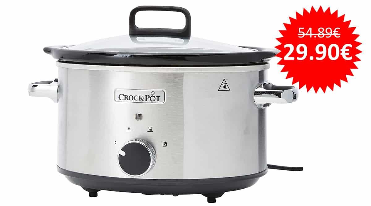 ¡Precio mínimo histórico! Olla de cocción lenta Crock-Pot CSC028X-01 sólo 29.90 euros.