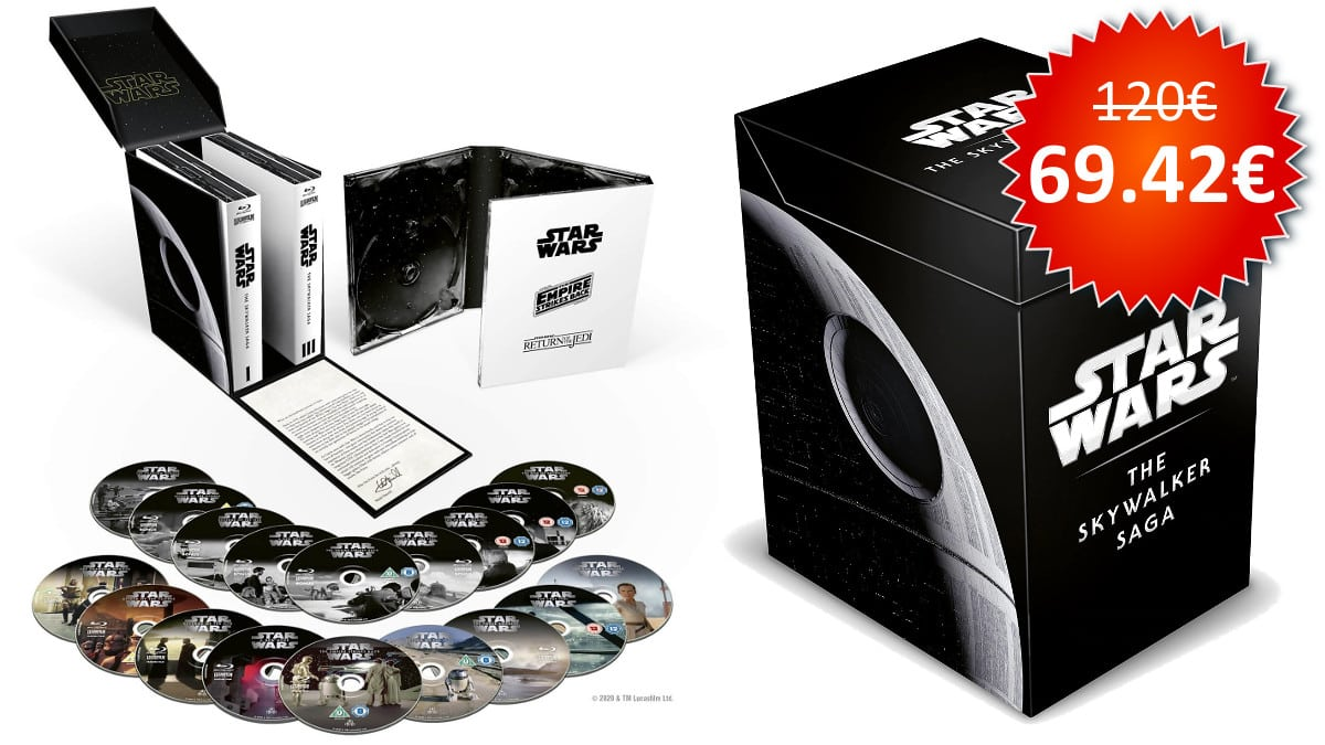 Pack Star Wars The Skywalker Saga en Blu-ray barata, películas baratas, chollo