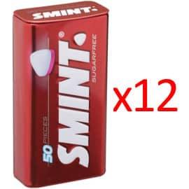 Pack de 12 latas de caramelos sin azúcar Smint fresa barato. Ofertas en supermercado