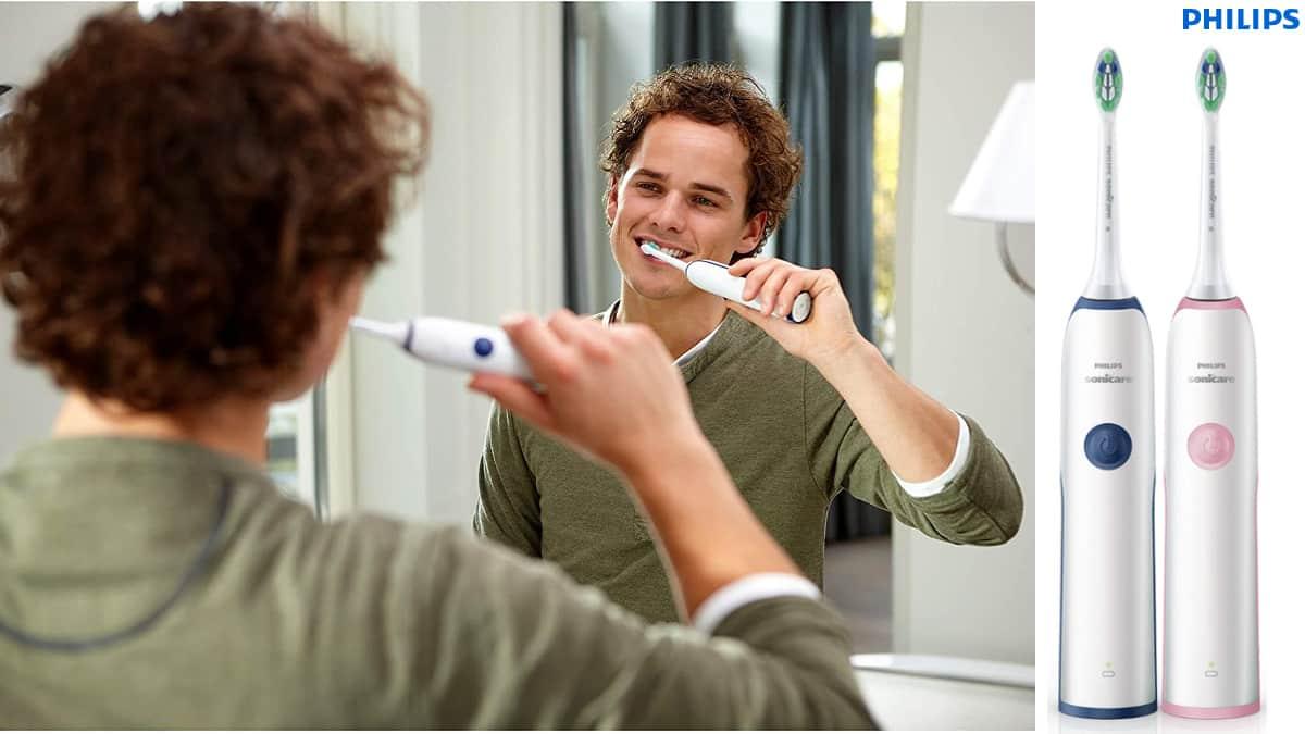 Pack de 2 cepillos eléctricos Philips Sonicare CleanCare HX321261 baratos, cepillos de dientes de marca baratos, ofertas cuidado personal, chollo