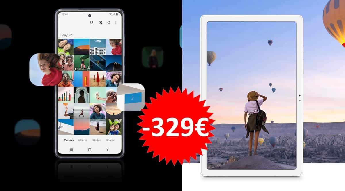 Pack móvil Samsung Galaxy S20 Fe + tablet Samsung Galaxy A7 barato. Ofertas en móviles, ofertas en tablets, móviles baratos, tablets baratas, chollo