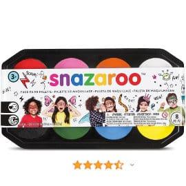 Paleta de pintura facial Snazaroo, maquillaje facial para niños y adultos baratos, ofertas carnaval