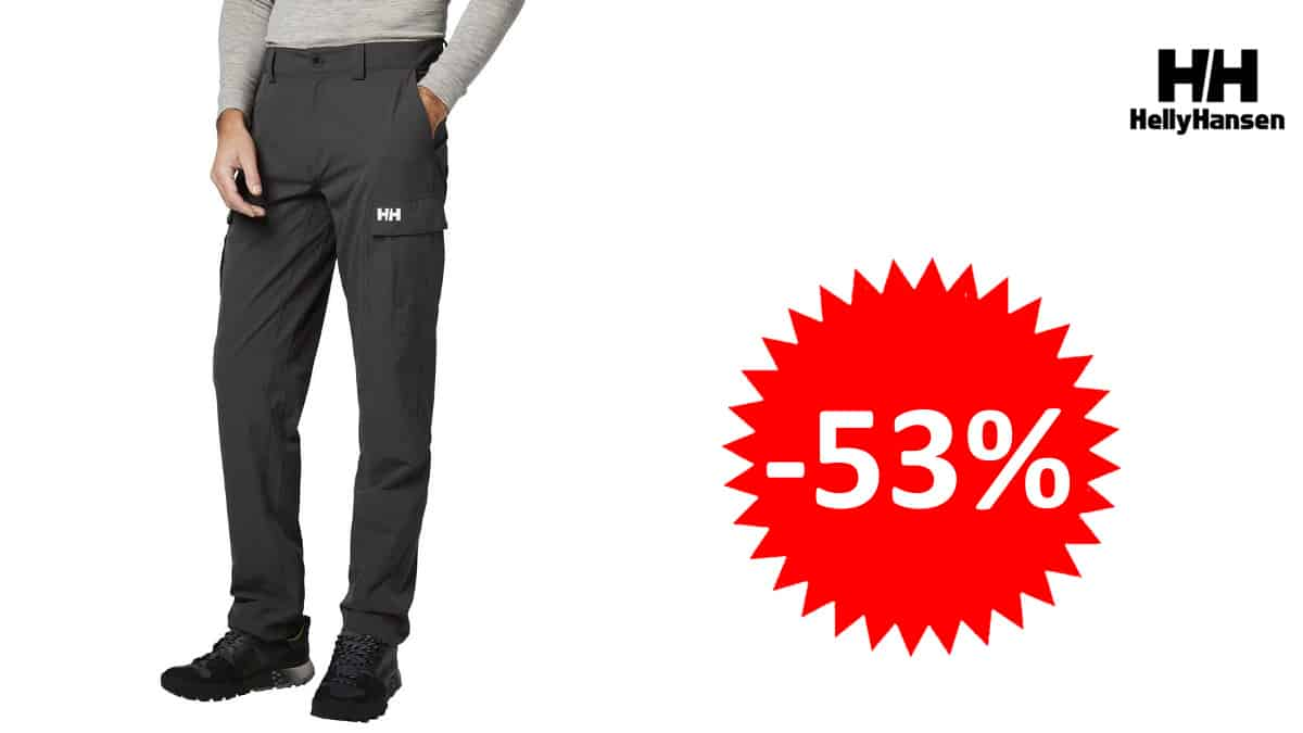 Pantalón Helly Hansen QD CARGO Softshell barato, pantalones de marca baratos, ofertas en ropa de deporte, chollo