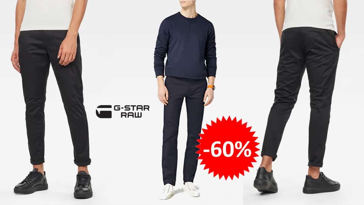 Pantalón chino G-star Raw Bronson Slim barato, ropa de marca barata, ofertas en pantalones chollo