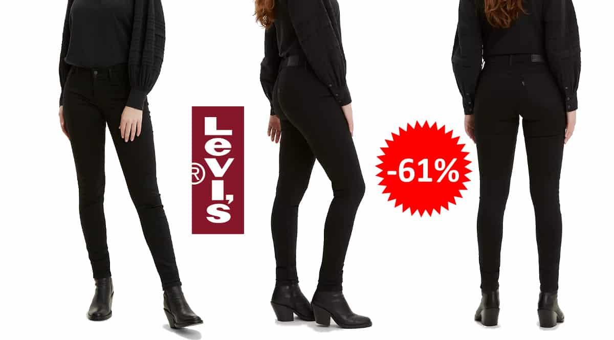 Pantalones Levi's Innovation Super Skinny baratos, ropa de marca barata, ofertas en pantalones chollo