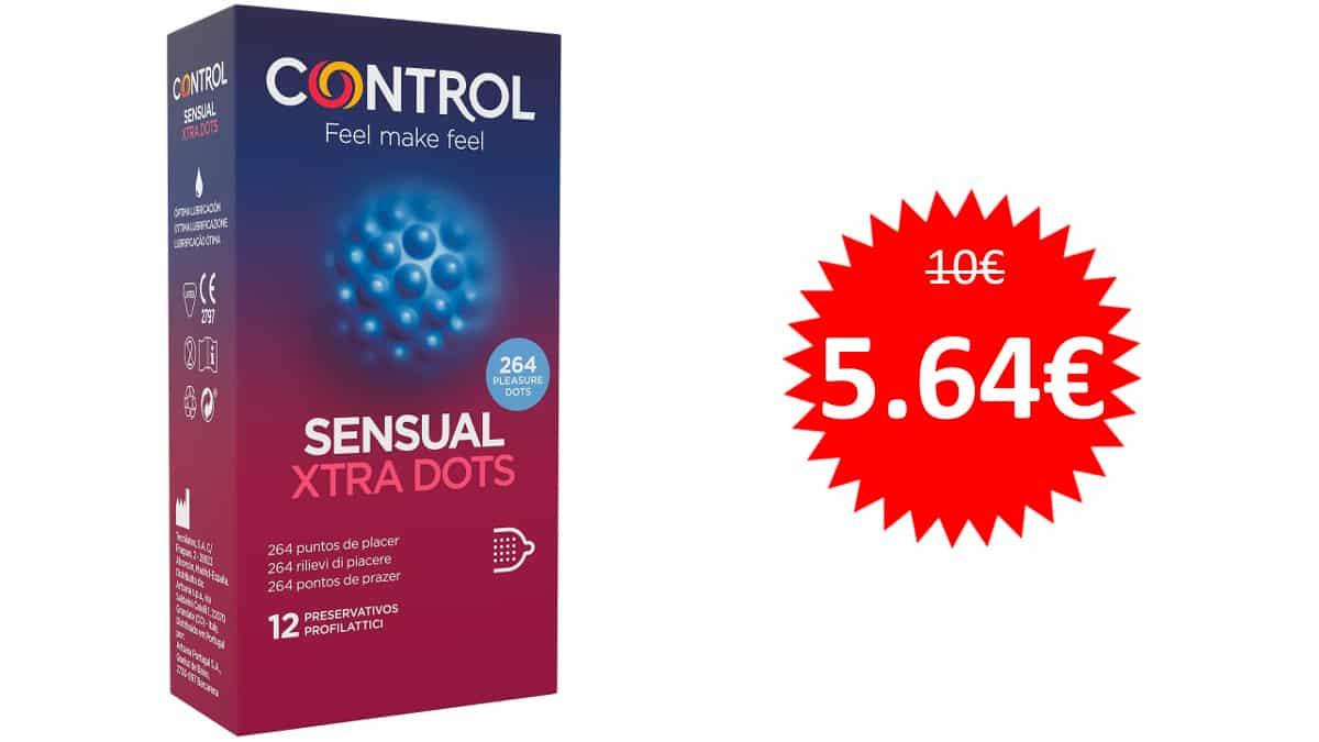 Preservativos Control Xtra Dots baratos. Condones de marca baratos, ofertas en supermercado, chollo