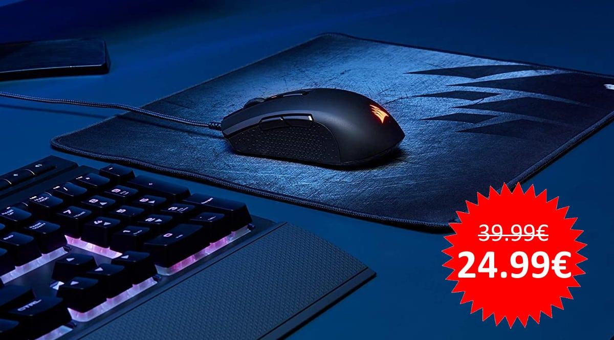 ¡Sólo hoy! Ratón gaming Corsair M55 RGB PRO sólo 24.99 euros.