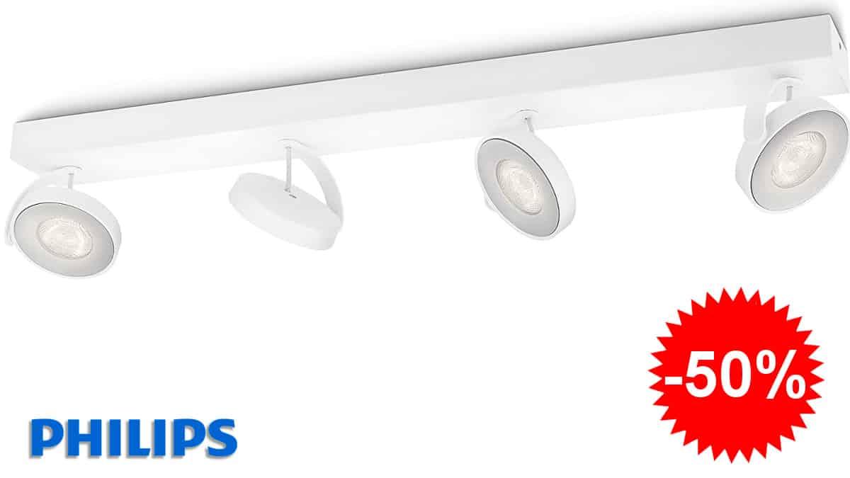 Regleta LED Philips myLiving Clockwork barata, lámparas de marca baratas, ofertas iluminación hogar, chollo