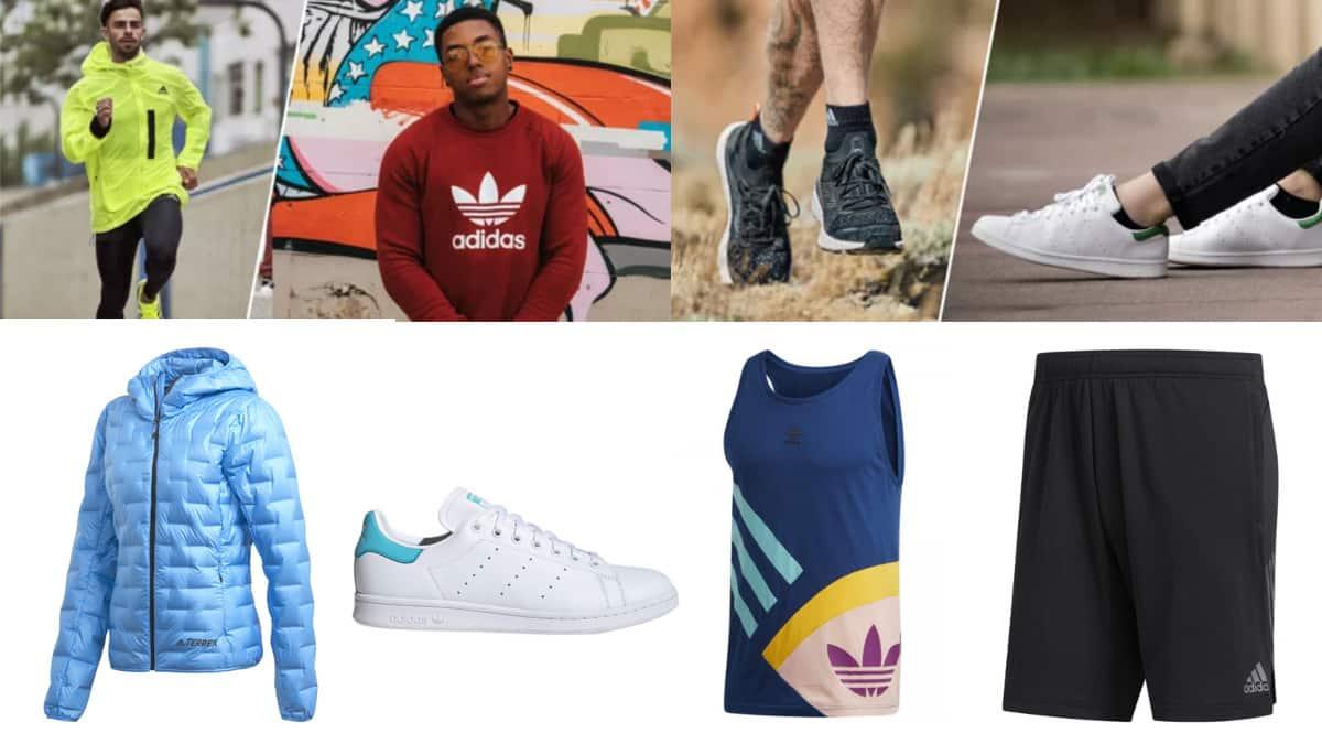 Ropa y calzado Adidas.