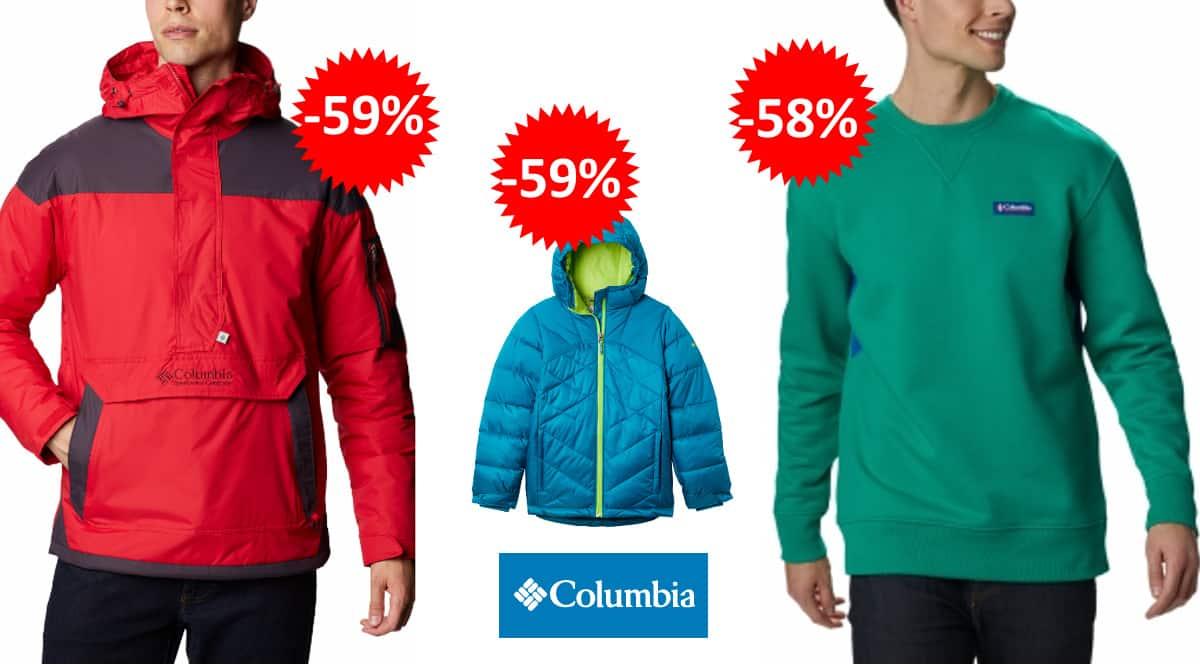 Ropa y calzado Columbia barato, ropa deportiva para niño y adulto de marca barata, ofertas en ropa, chollo