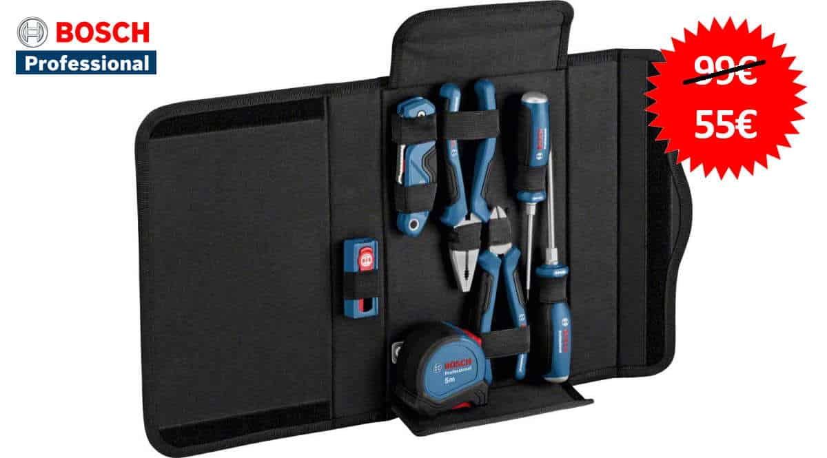 Set de herramientas Bosch Professional barato, ofertas en herramientas, herramientas baratas, chollo