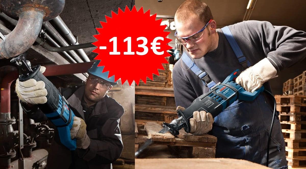 ¡Sólo hoy! Sierra de sable Bosch GSA 1300 PCE sólo 155 euros. Ahórrate 113 euros.