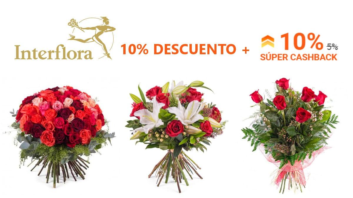 Súper Cashback Interflora , ramos de flores baratos, ofertas en flores chollo