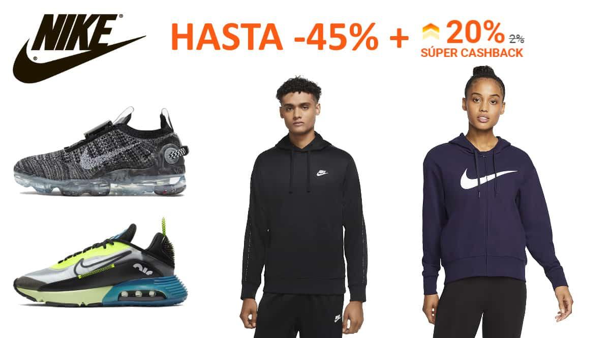 Súper Cashback Nike en iGraal, ropa de marca barata, ofertas en calzado chollo