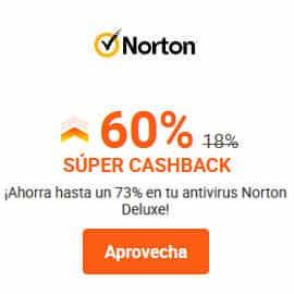 Súper Cashback en Norton, antivirus barato, ofertas en VPN