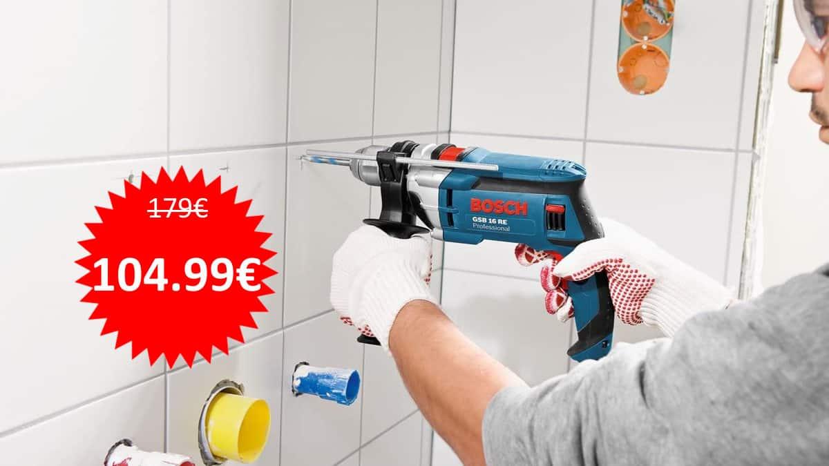Taladro percutor Bosch Professional GSB 16 RE barato. Ofertas en herramientas, herramientas baratas, chollo
