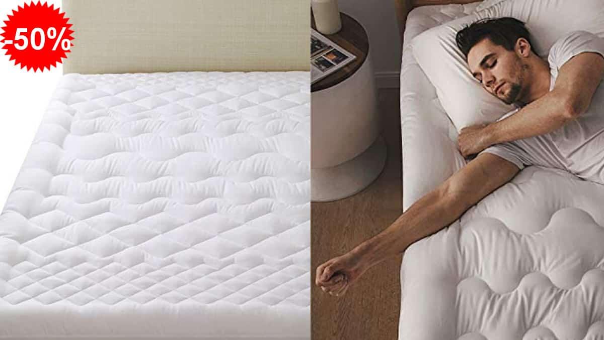 Topper para colchón Bedsure barato, toppers baratos, ofertas hogar, chollo