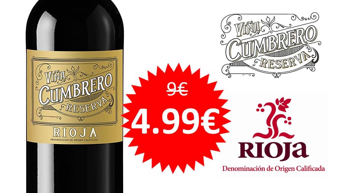 Vino D.O.Rioja Viña Cumbrero barato. Ofertas en vinos, vinos baratos, chollo