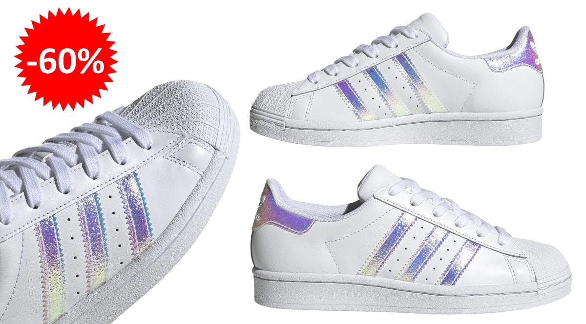 Zapatillas Adidas Superstar para niños baratas, calzado de marca barato, ofertas para niños chollo